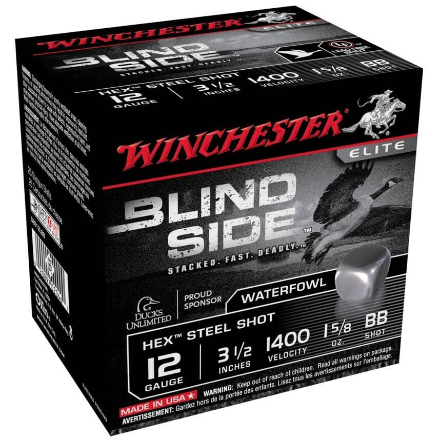 "WINCHESTER:3-1/2"" 12 Gauge #BB Blind Side Ammunition - 25 Rounds"