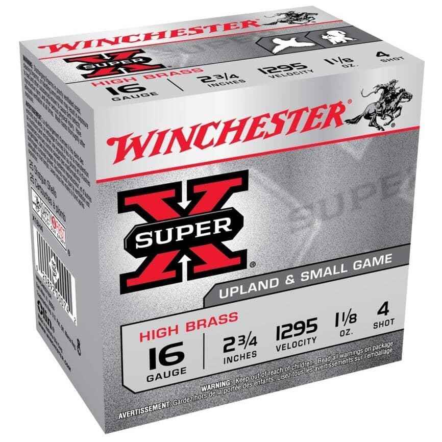 WINCHESTER:16 Gauge #4 Super-X Ammunition - 25 Rounds