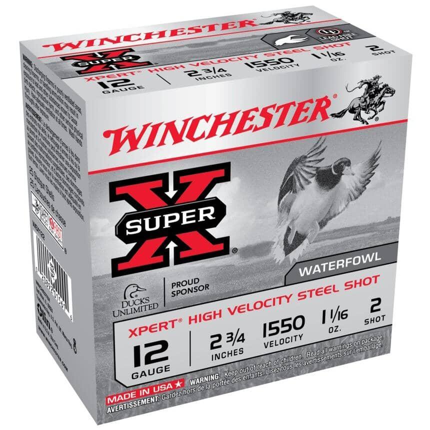 """WINCHESTER:2-3/4"""" 12 Gauge #2 High Velocity Steel Xpert Ammunition - 25 Rounds"""