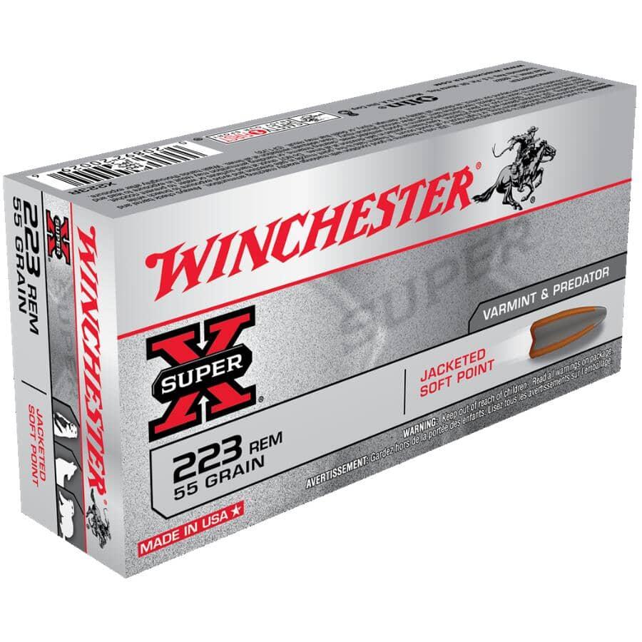 WINCHESTER:Super X 223 Remington Ammunition - 20 Rounds