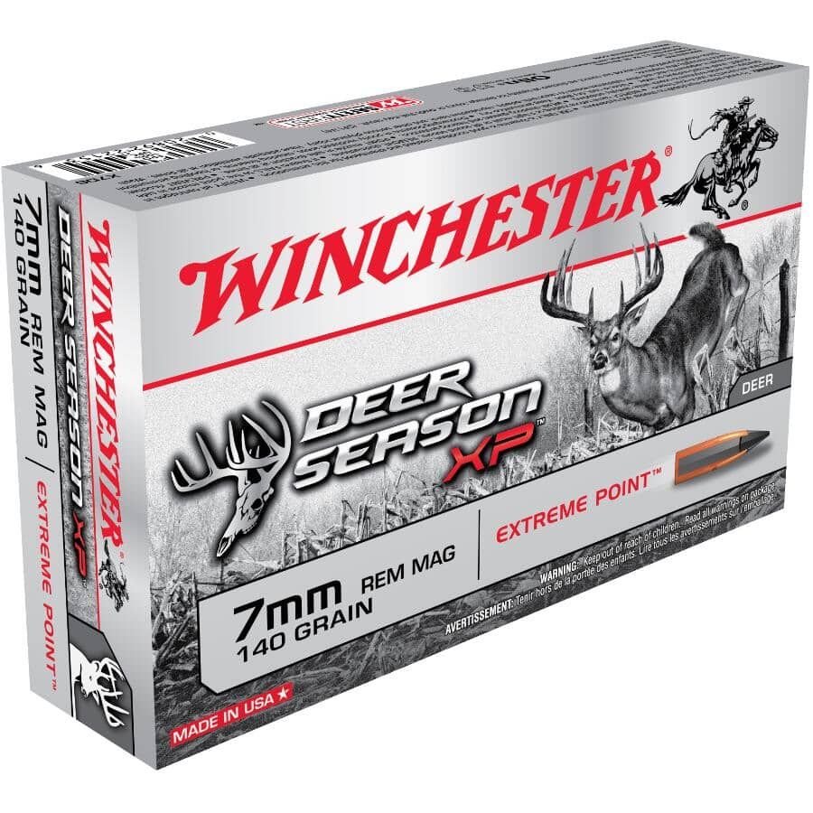 WINCHESTER:7mm Rem Mag Extreme Point Deer Season XP Ammunition - 20 Rounds