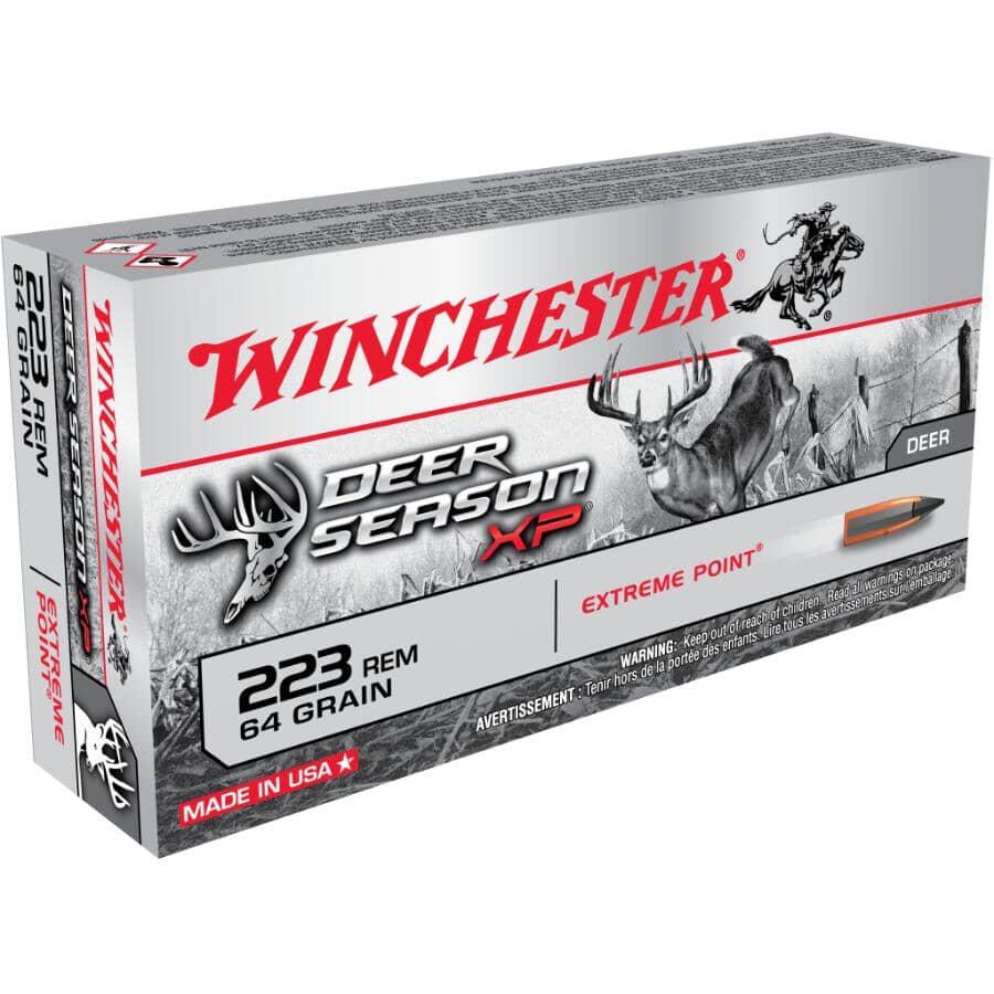 WINCHESTER:223 Remington Extreme Point Deer Season XP Ammunition - 20 Rounds