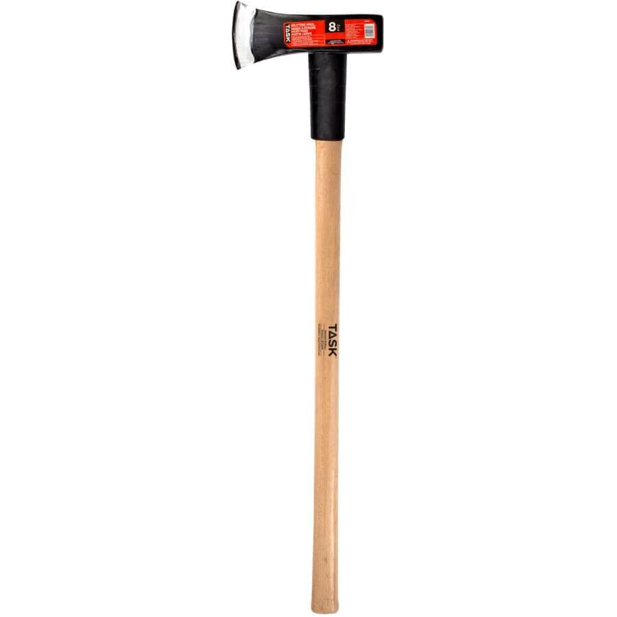 """TASK:8 lb Splitting Maul - with 37"""" Hickory Handle"""