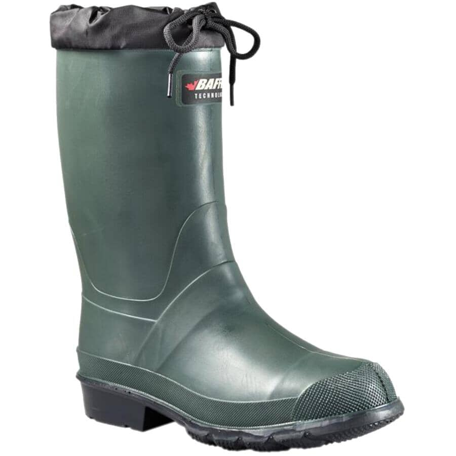 BAFFIN:Men's Hunter PLN Insulated Rubber Boots - Size 8, Forest Green