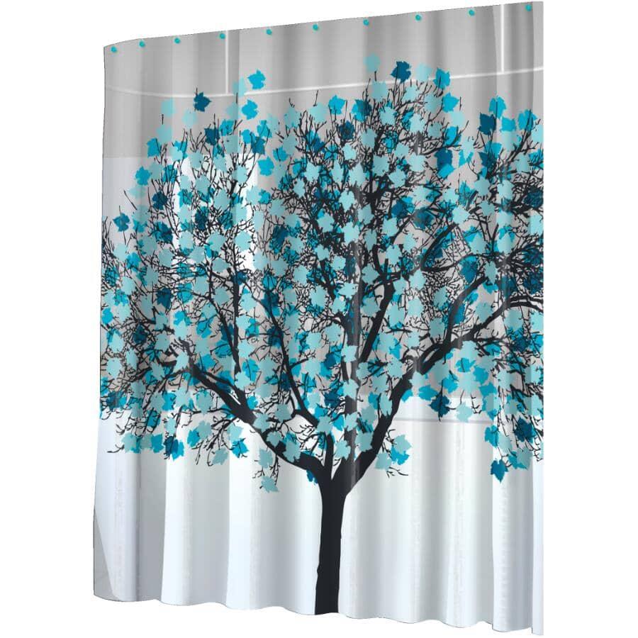 "SPLASH HOME:PEVA Shower Curtain - Foliage, 70"" x 72"""