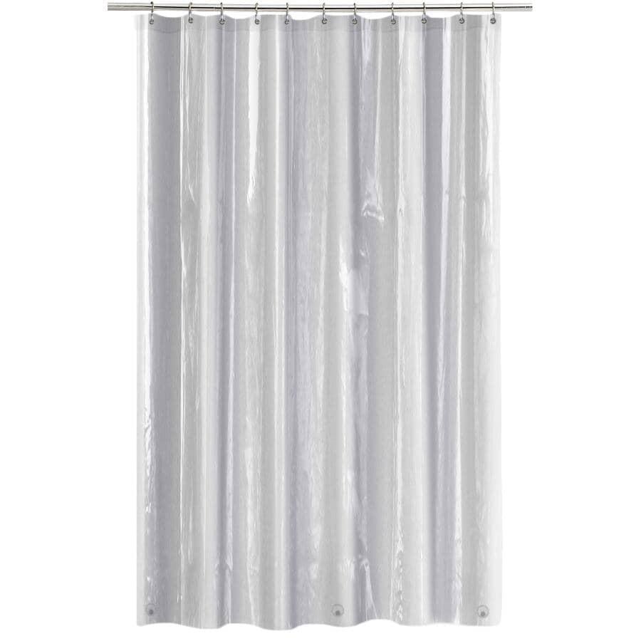 "SPLASH HOME:6 Gauge EVA Shower Curtain / Liner - Clear, 70"" x 72"""