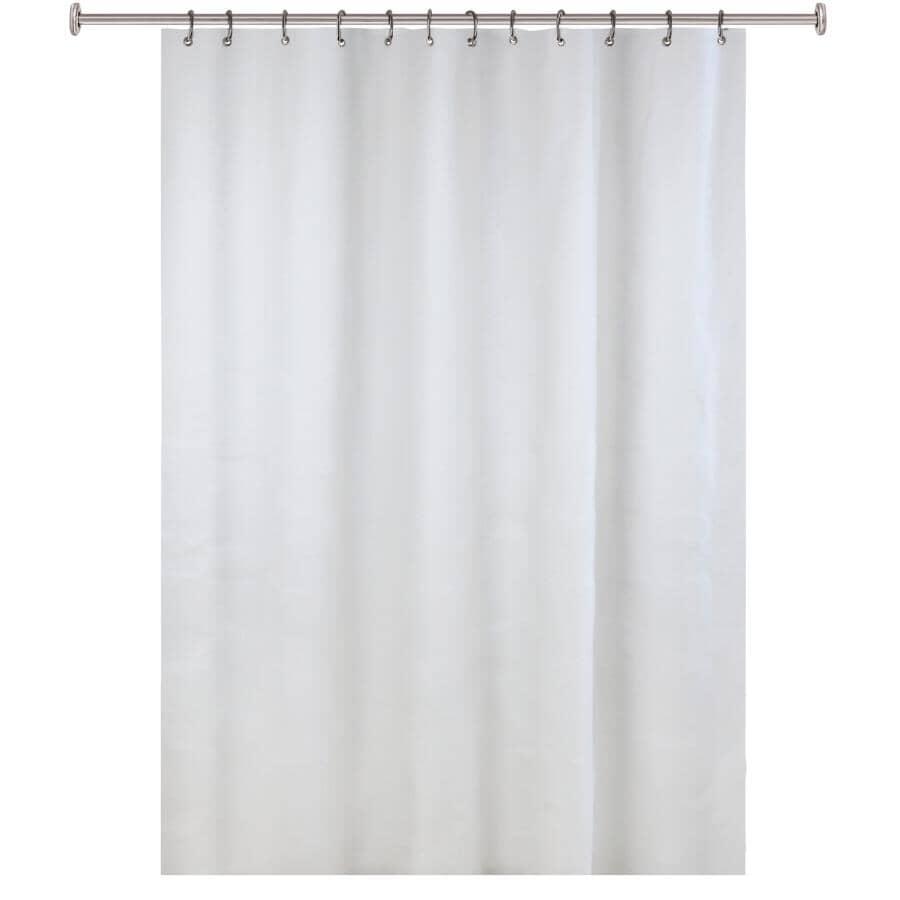 "SPLASH HOME:6 Gauge EVA Shower Curtain / Liner - White, 70"" x 72"""