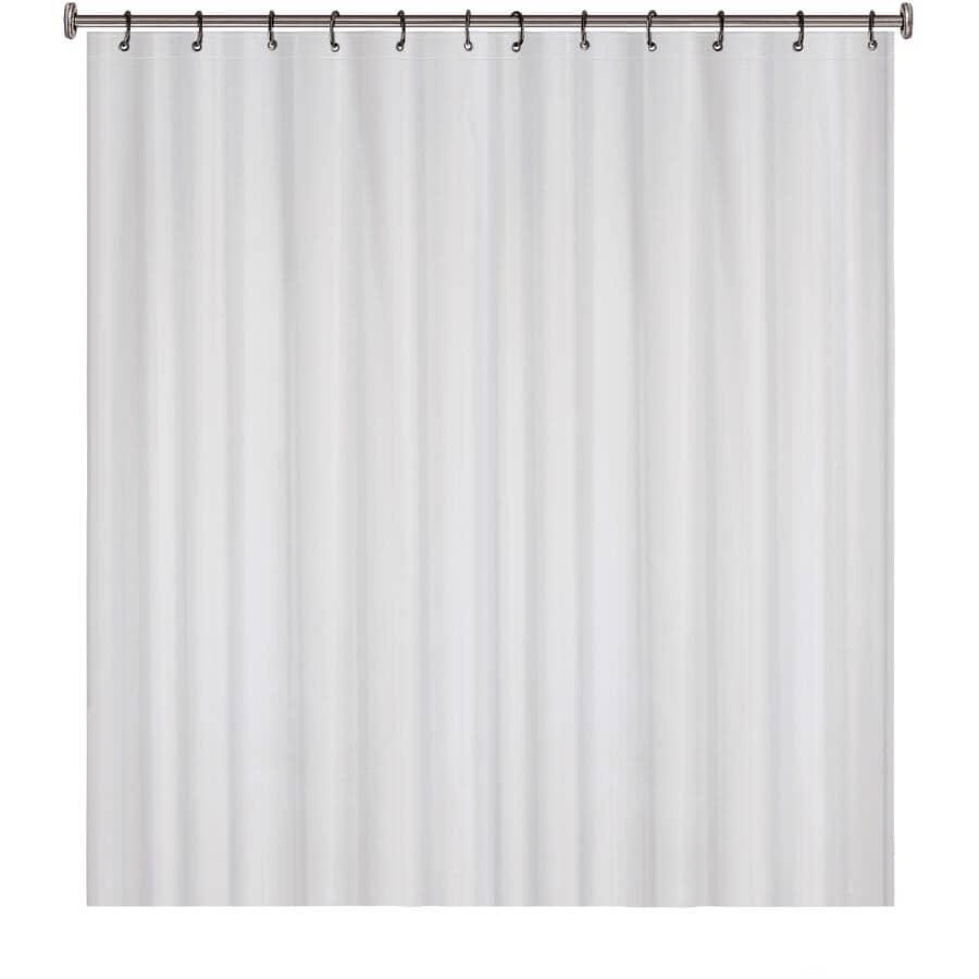 "SPLASH HOME:6 Gauge EVA Shower Curtain / Liner - Frosty, 70"" x 72"""