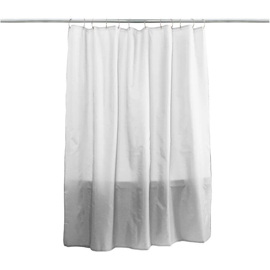 "SPLASH HOME:Fabric Shower Curtain / Liner - White, 70"" x 72"""