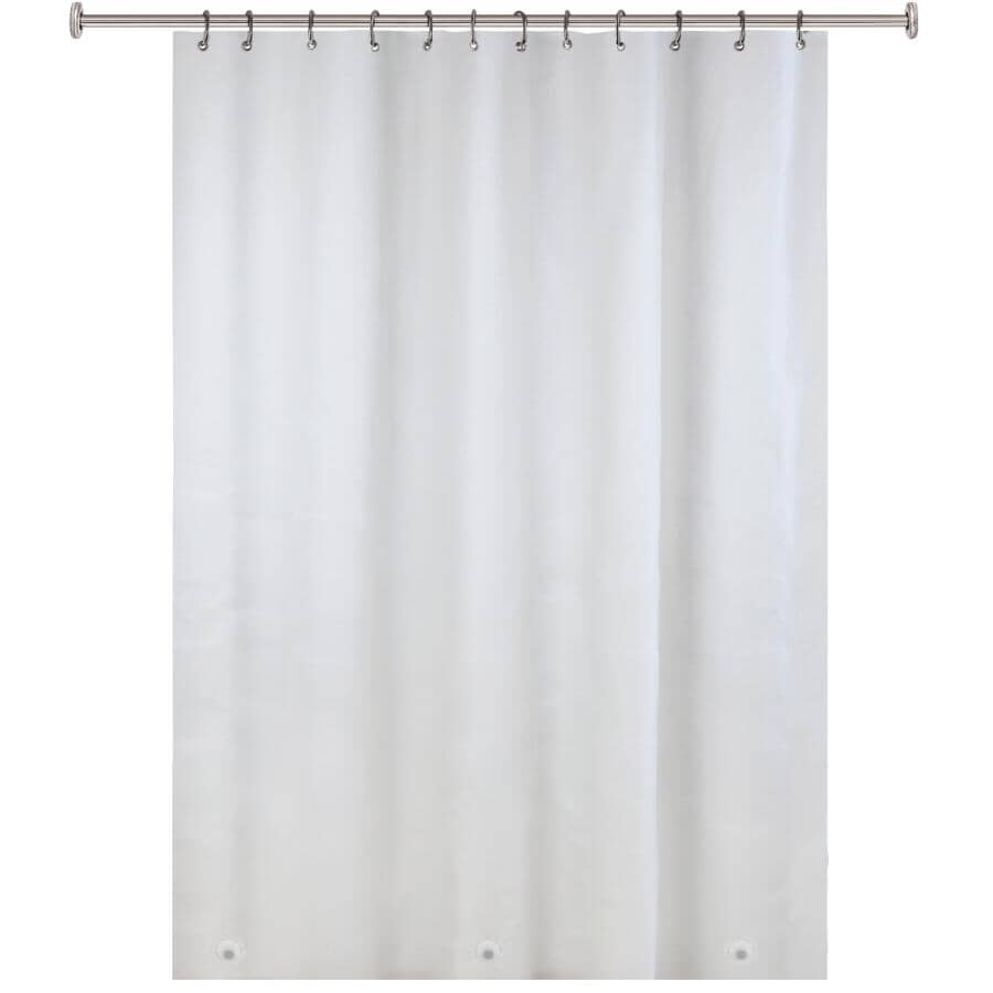 """SPLASH HOME:Magnetic PEVA Shower Curtain / Liner - Frosty, 70"""" x 72"""""""