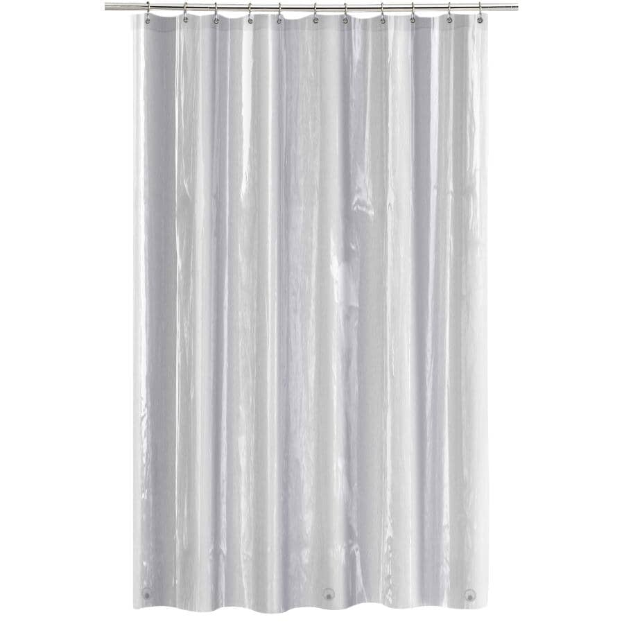 "SPLASH HOME:10 Gauge EVA Heavy Duty Shower Curtain - Clear, 70"" x 72"""