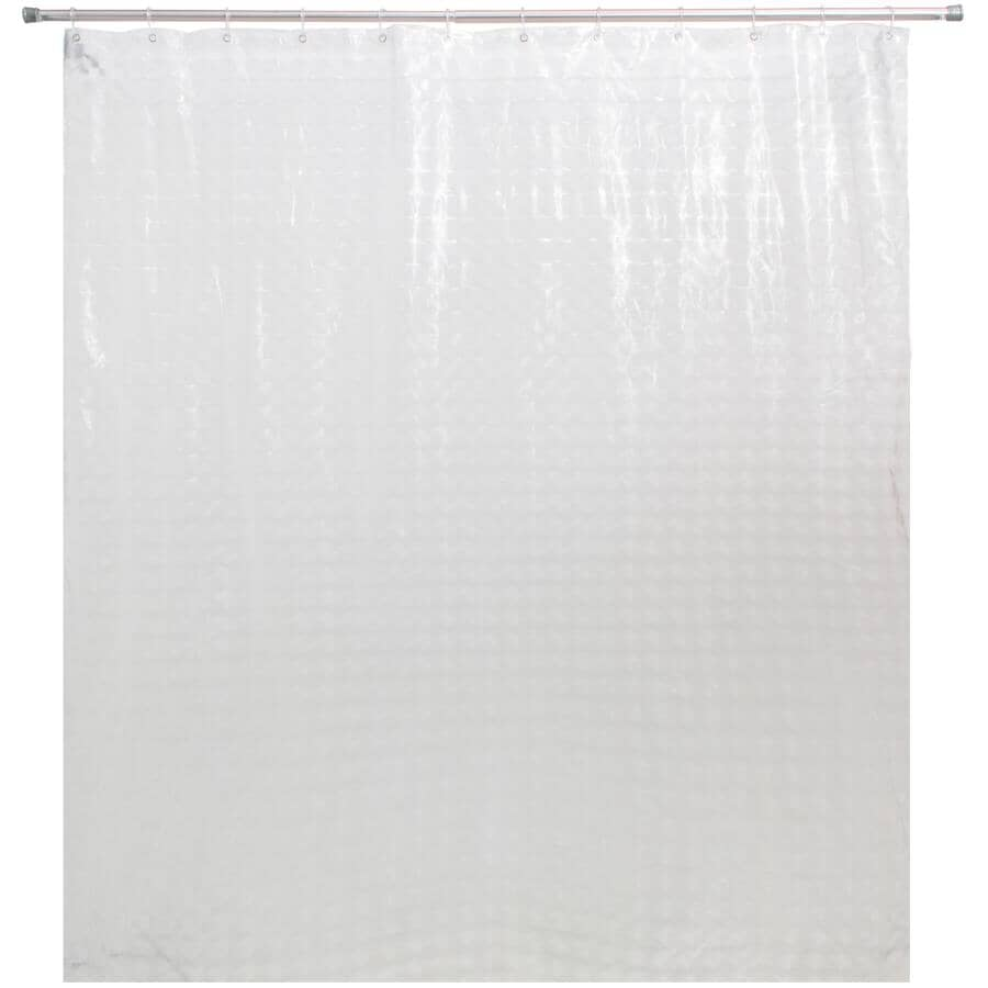 """SPLASH HOME:Vinyl Shower Curtain with Rings - Eclipse Clear, 70"""" x 72"""""""