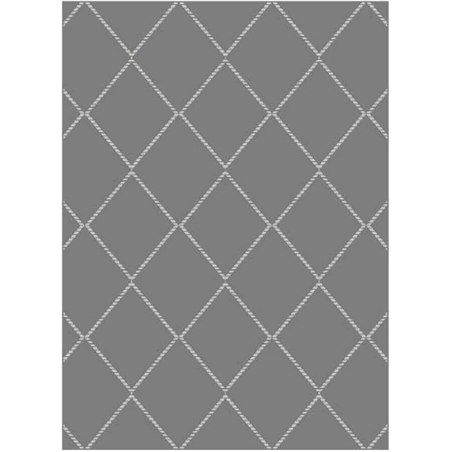 KALORA INTERIORS:5' x 7' Faira Area Rug - Grey Diamond Pattern