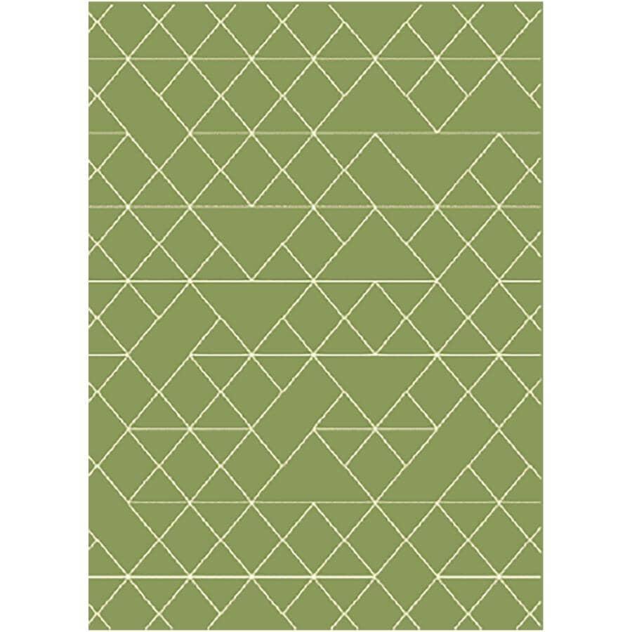 KALORA INTERIORS:5' x 7' Faira Area Rug - Green + White Pattern