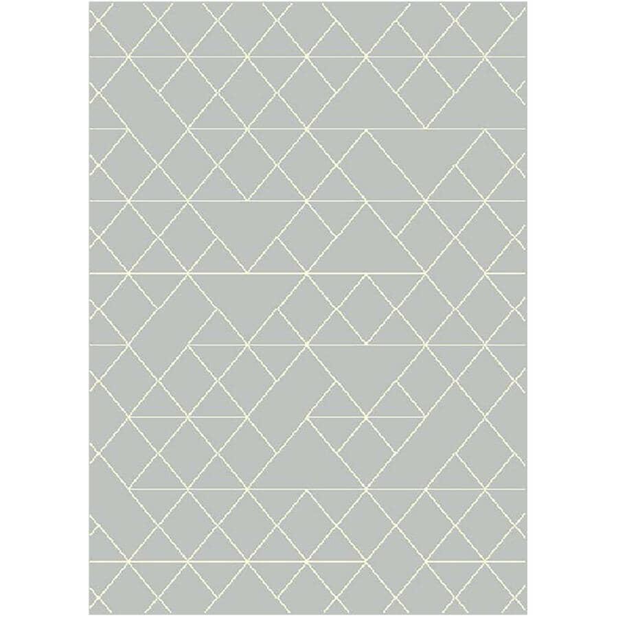 KALORA INTERIORS:5' x 7' Faira Area Rug - Grey + White Pattern