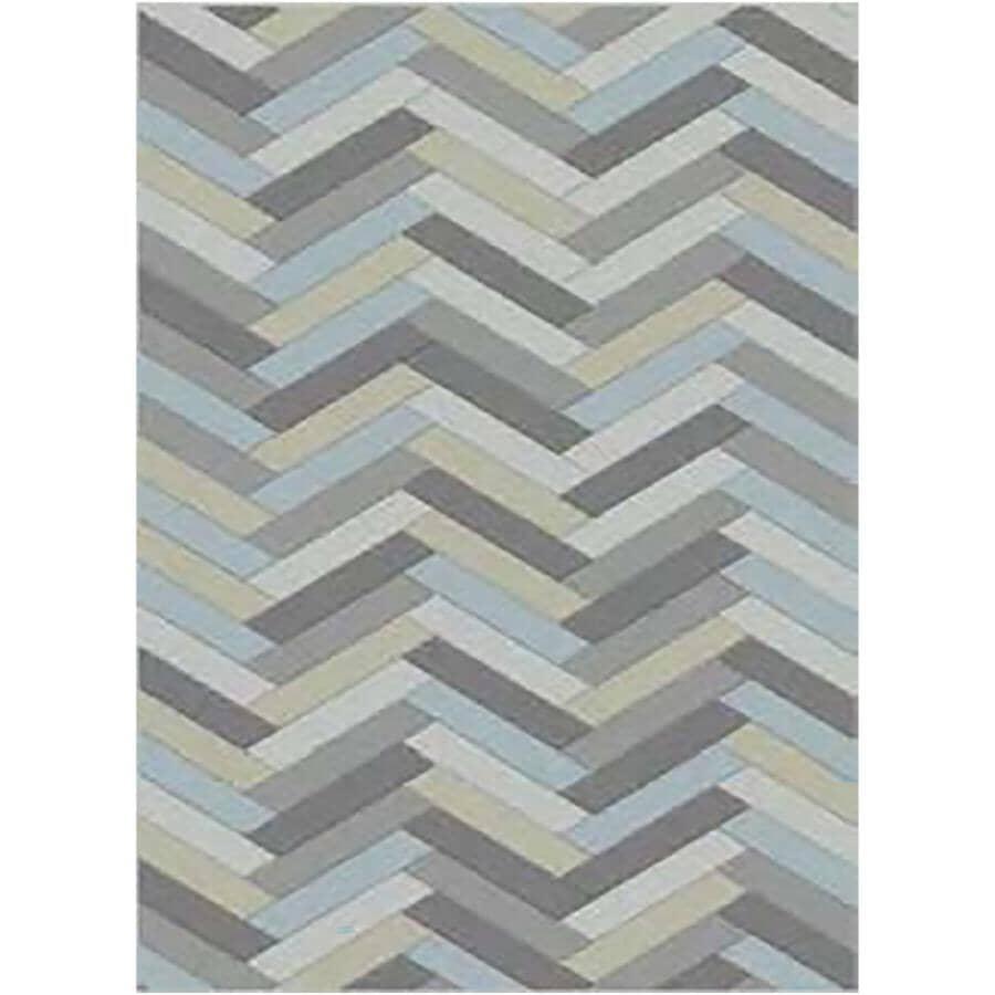 KALORA INTERIORS:5' x 7' Faira Area Rug - Multi-Colour Herringbone Pattern