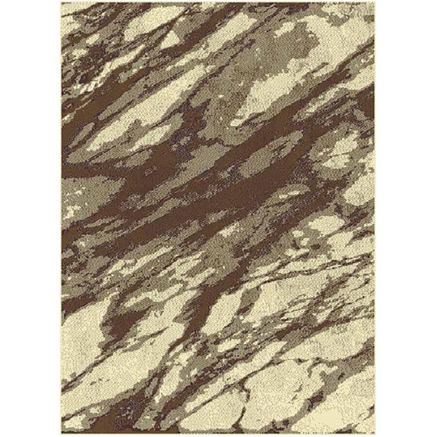 KALORA INTERIORS:5' x 7' Faira Area Rug - Light Brown to Dark Brown Design