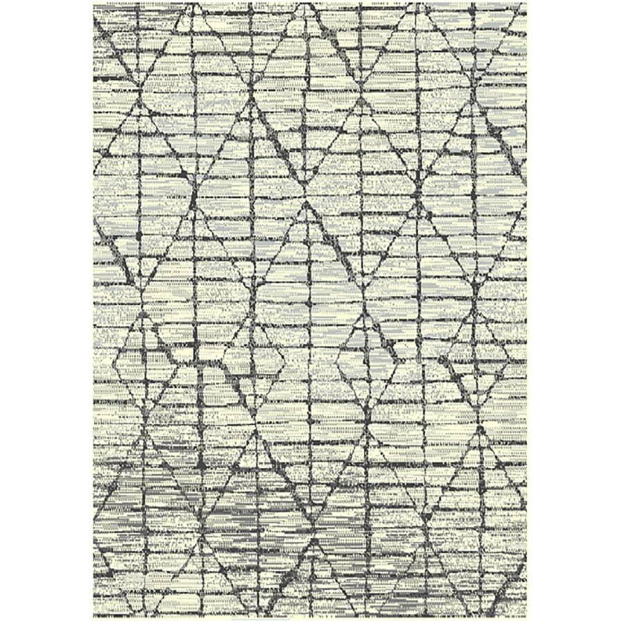 KALORA INTERIORS:5' x 7' Faira Area Rug - Light Grey to Dark Grey + Cream Pattern