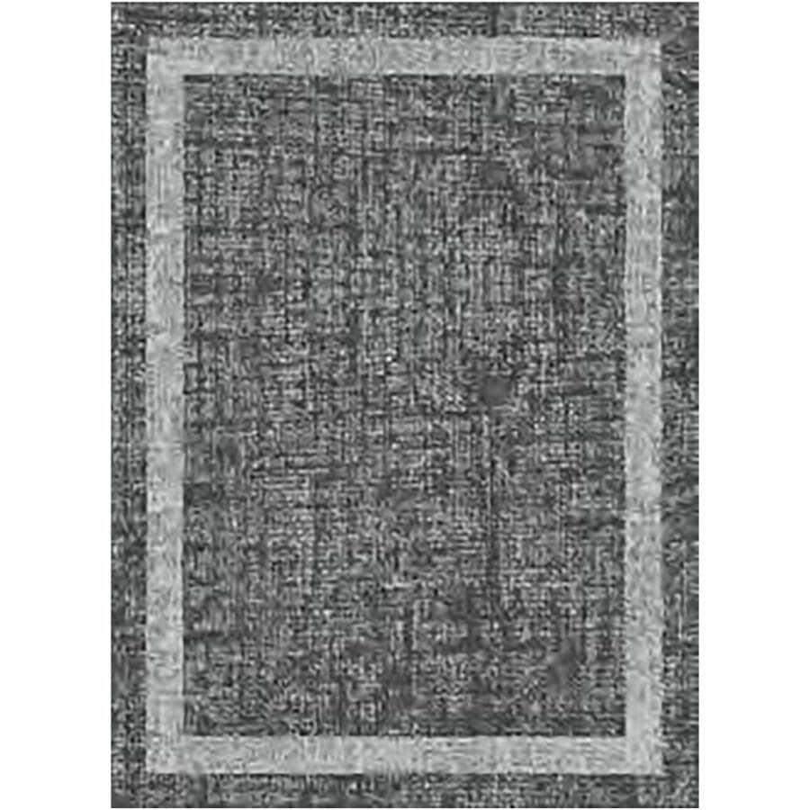 KALORA INTERIORS:5' x 7' Faira Area Rug - Light Grey to Dark Grey Pattern + Border
