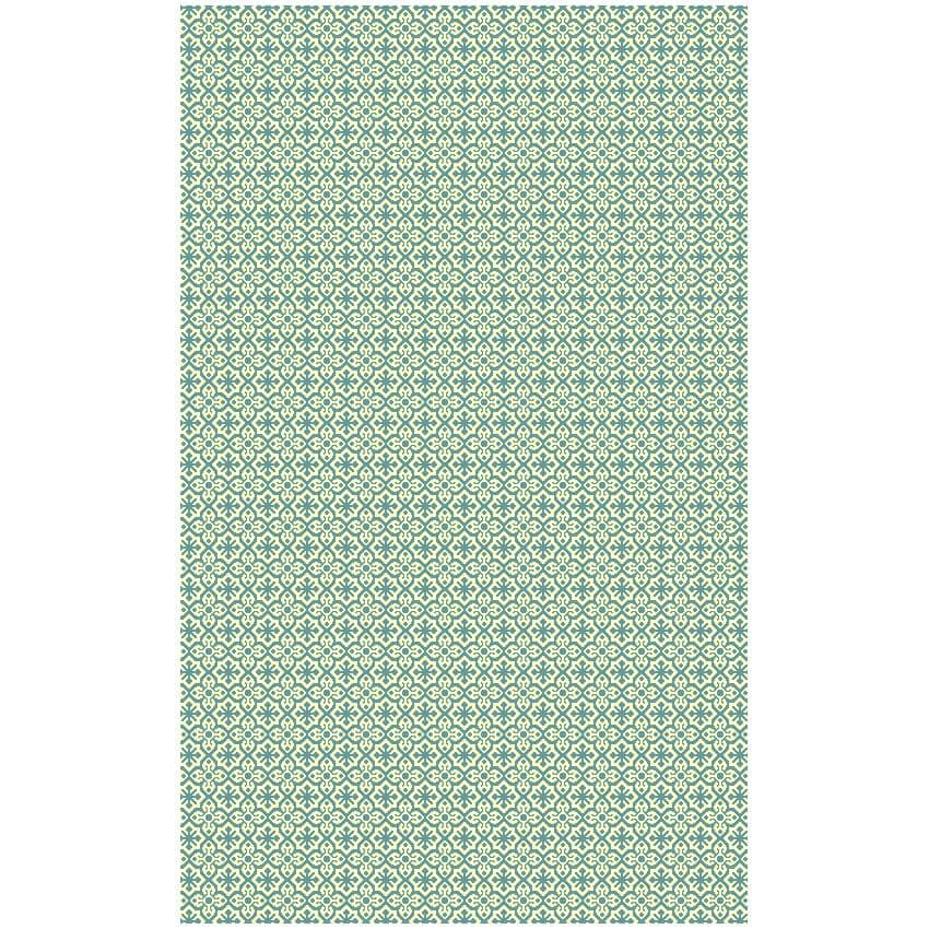 "MULTIMATS:144"" x 108"" Wasabi Green/White Plastic Patio Rug"