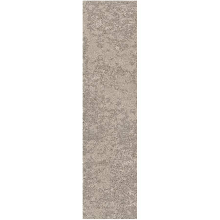 """SHAW FLOOR:Woven Fringe Collection 9"""" x 36"""" Carpet Planks - Cozy Taupe, 18 sq. ft."""