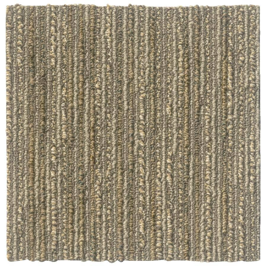"SHAW FLOOR:Striation Collection 9"" x 36"" Carpet Planks - Twine, 36 sq. ft."