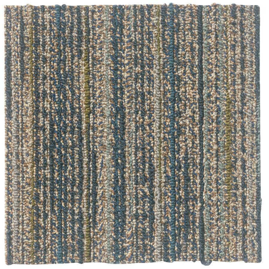 """SHAW FLOOR:Timelapse Collection 9"""" x 36"""" Carpet Planks - Midnight Sky, 36 sq. ft."""