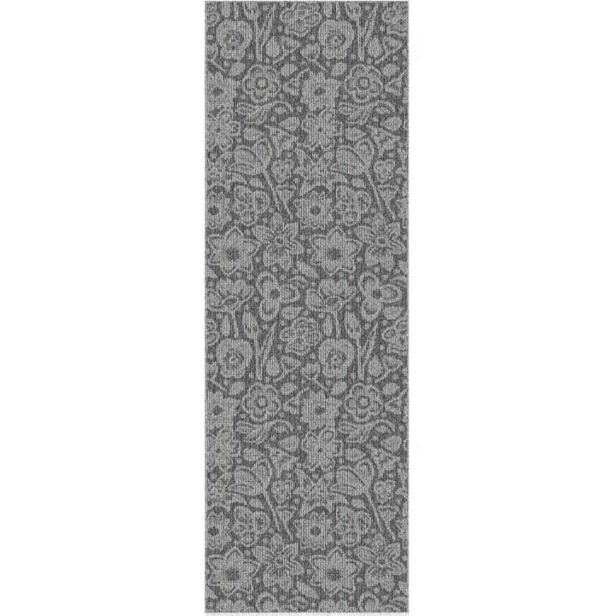 """VENTURE CARPETS:Roomio Collection Grey Carpet Runner - Eldorado, 24"""" x 72"""""""
