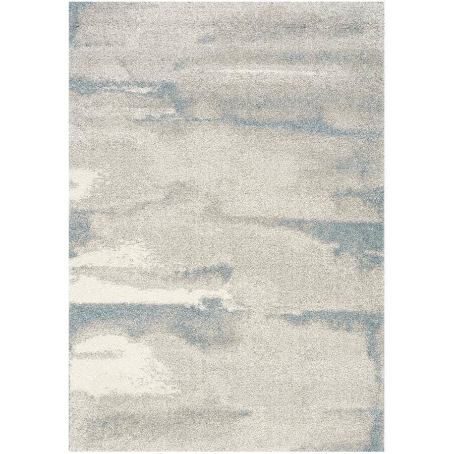 KALORA INTERIORS:8' x 11' Sable Grey/Blue Marble Area Rug