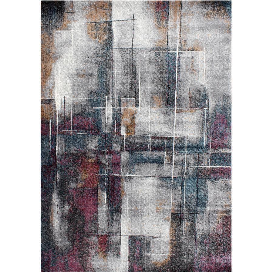 KALORA INTERIORS:6' x 8' Klio Area Rug - Grey Multi-Colour Design