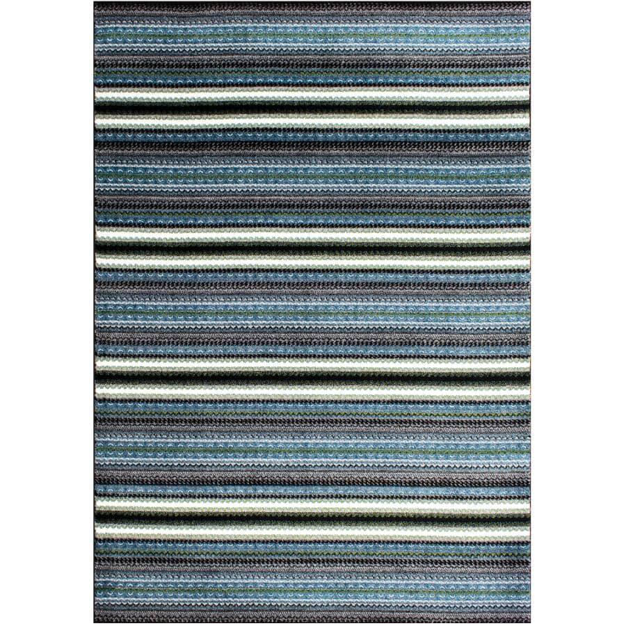 KALORA INTERIORS:6' x 8' Klio Area Rug - Multi-Colour Striped Design