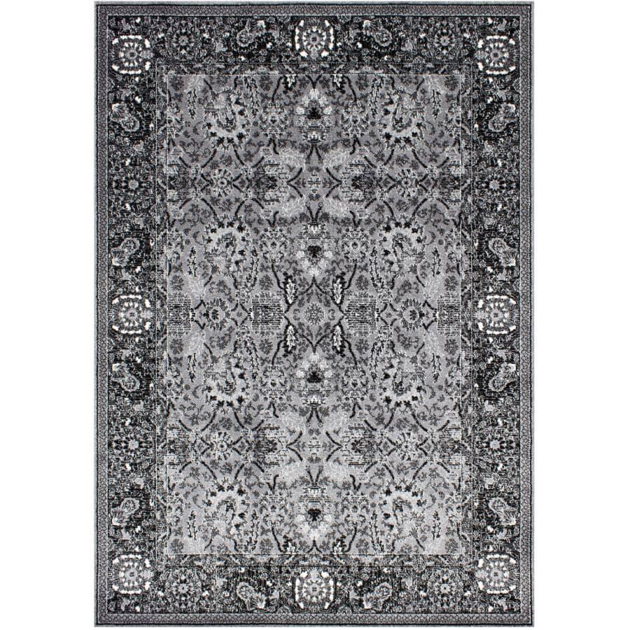 KALORA INTERIORS:6' x 8' Klio Area Rug - Grey, Black + White Design