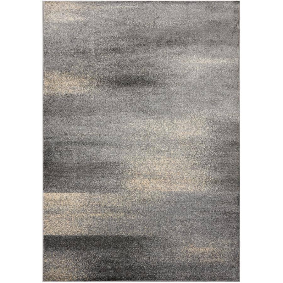 KALORA INTERIORS:6' x 8' Delta Area Rug - Grey + Cream Design