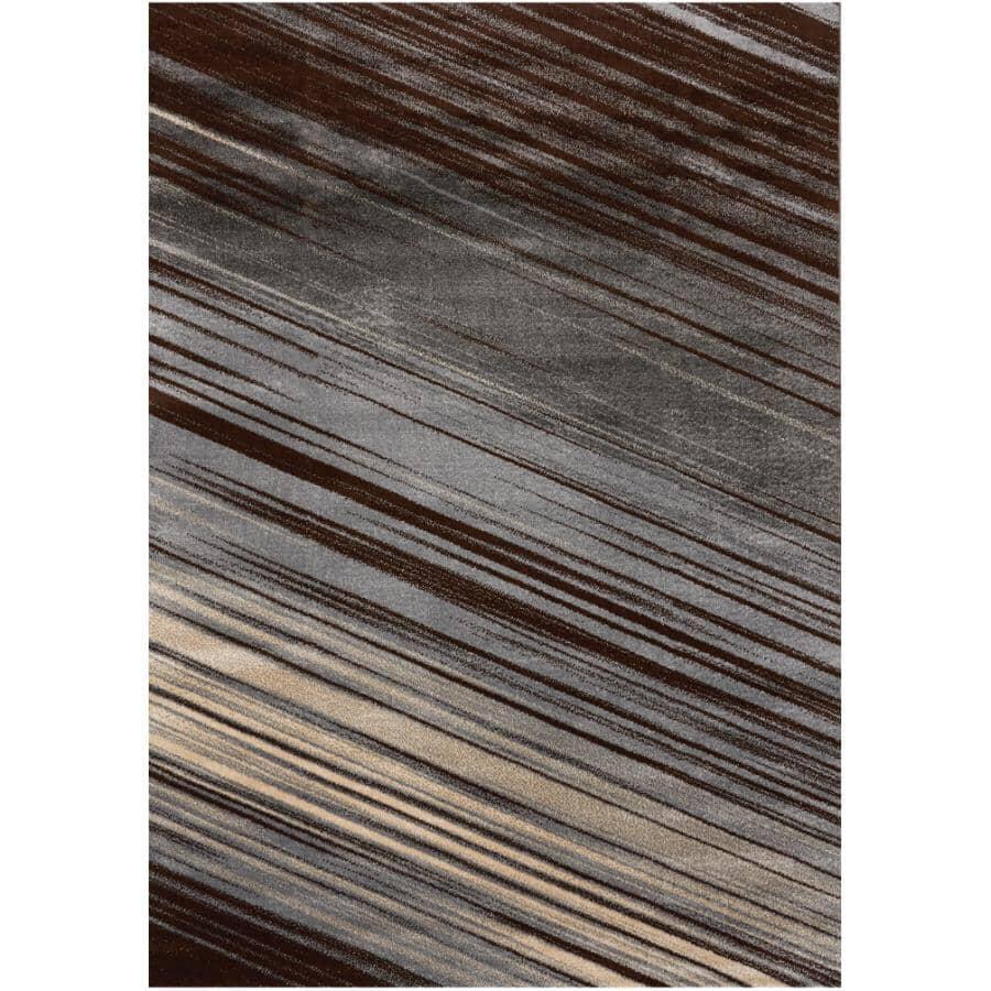 KALORA INTERIORS:6' x 8' Delta Area Rug - Grey, Brown + White Design
