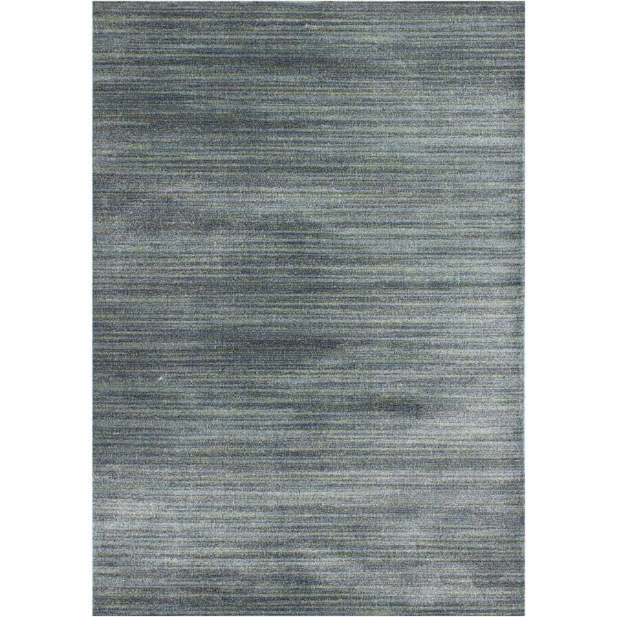 KALORA INTERIORS:6' x 8' Dawn Area Rug - Blue Multi-Coloured Stripe Pattern
