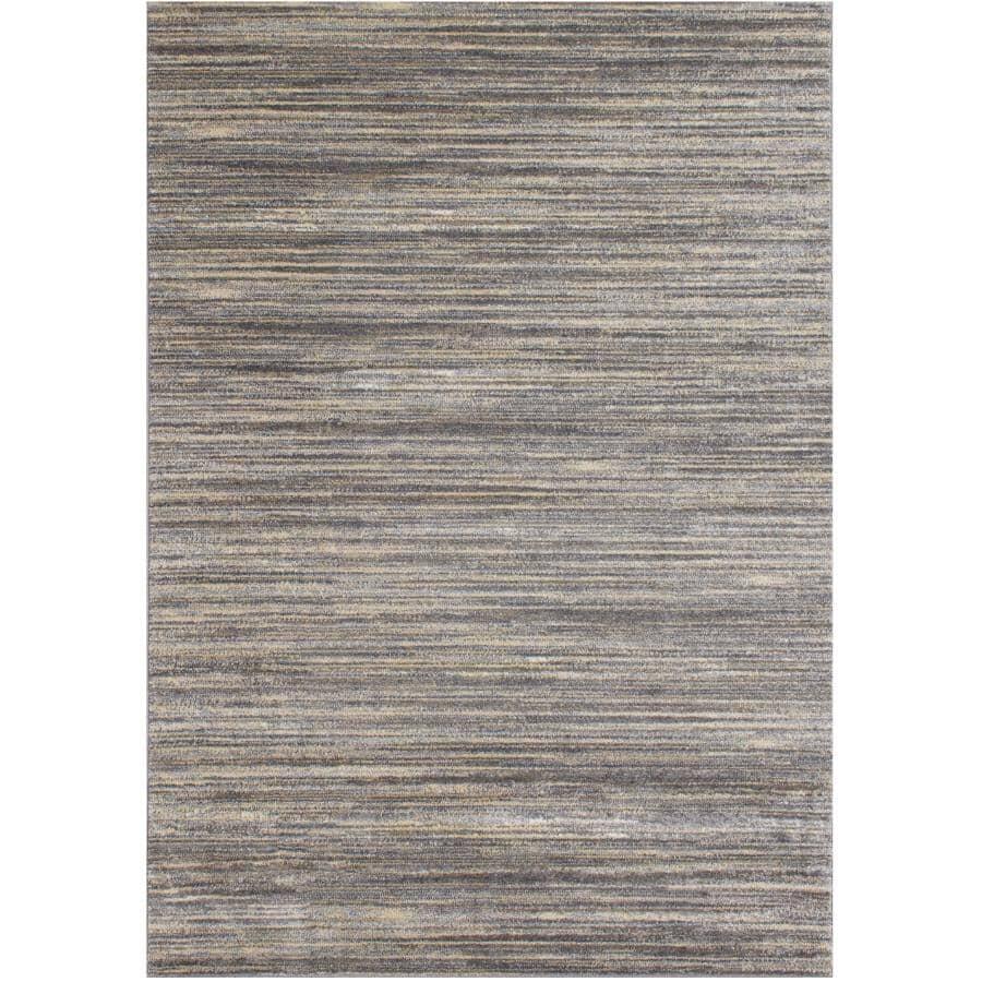 KALORA INTERIORS:6' x 8' Dawn Area Rug - Grey Multi-Coloured Stripe Pattern