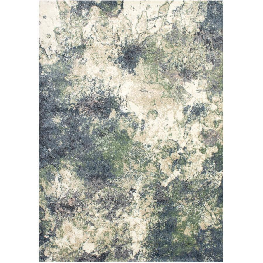 KALORA INTERIORS:6' x 8' Dawn Area Rug - Cream, Green + Beige Design