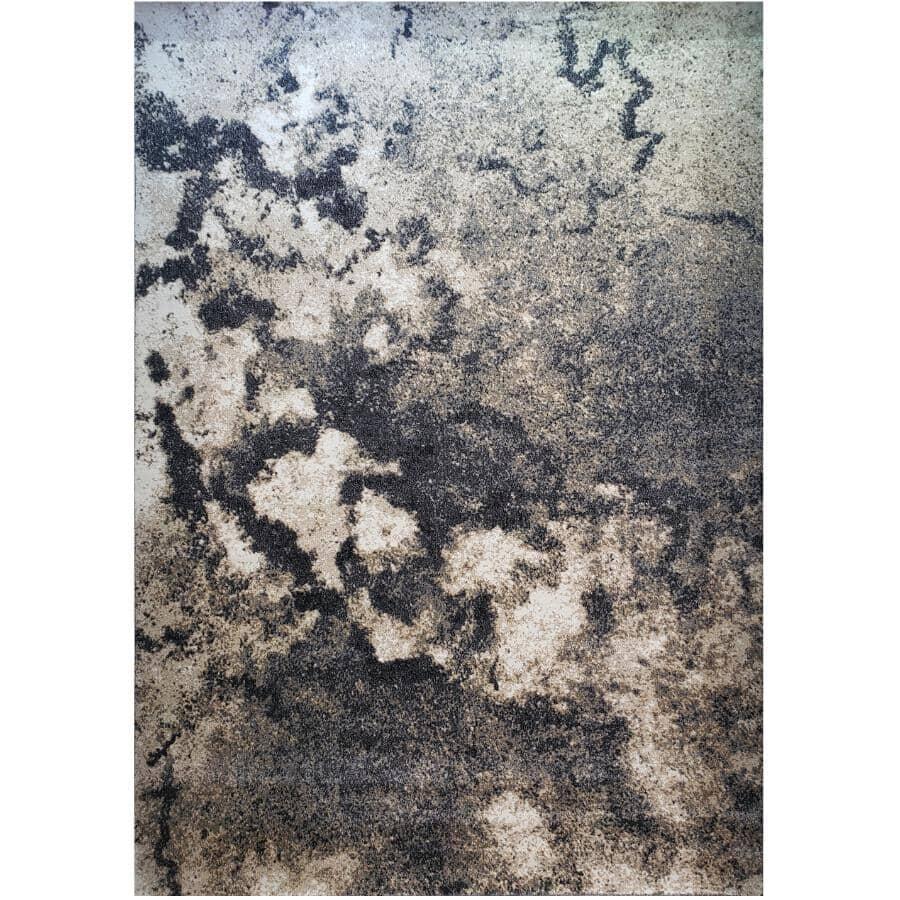 KALORA INTERIORS:6' x 8' Dawn Area Rug - Light Grey to Dark Grey Design