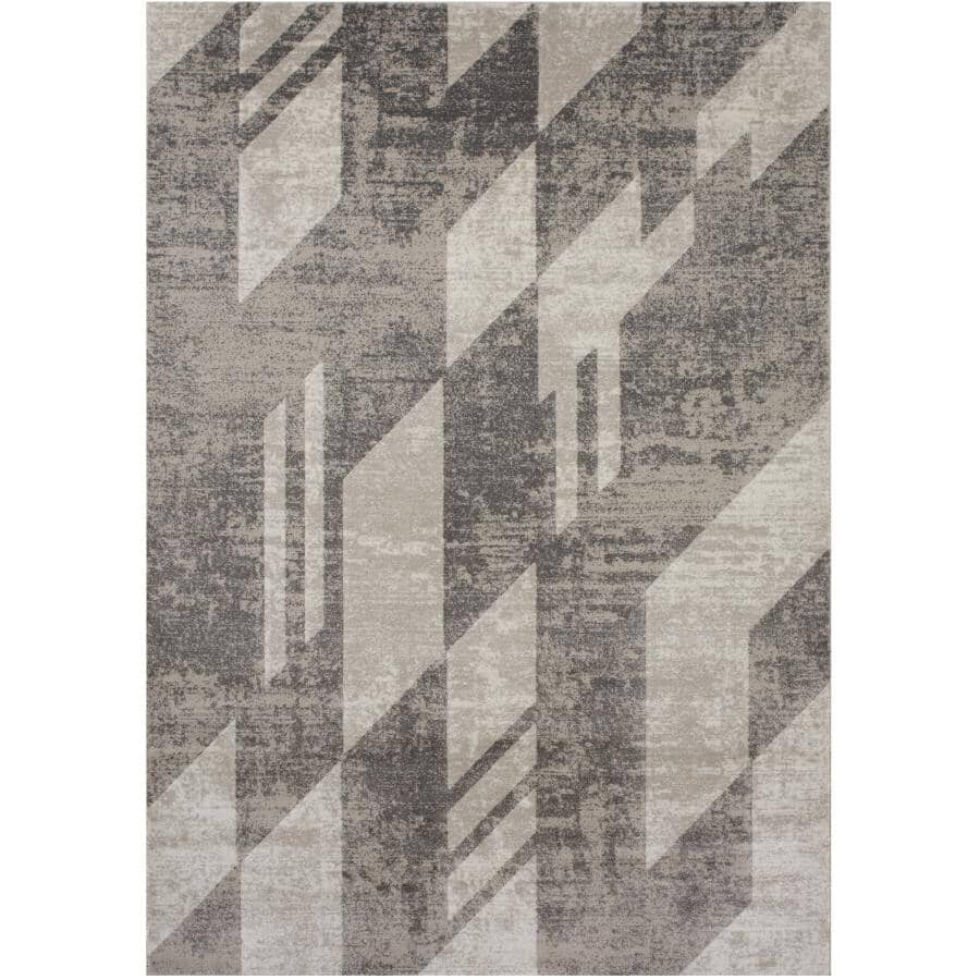 KALORA INTERIORS:6' x 8' Saxon Area Rug - Light Grey to Dark Grey Pattern