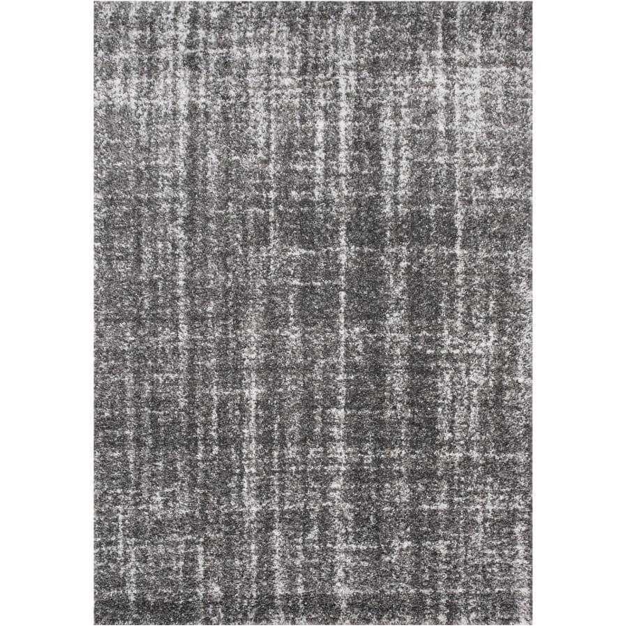 KALORA INTERIORS:6' x 8' Dixon Area Rug - Light Grey to Dark Grey Pattern