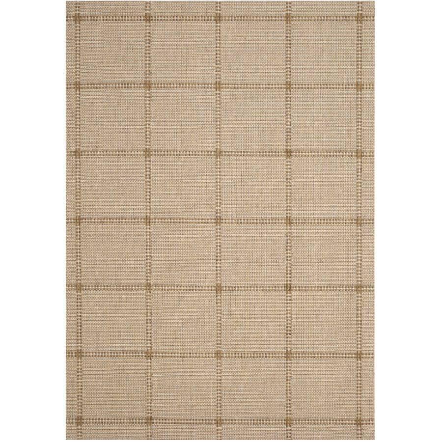 KALORA INTERIORS:6' x 8' Jasper Area Rug - Woven Beige Pattern