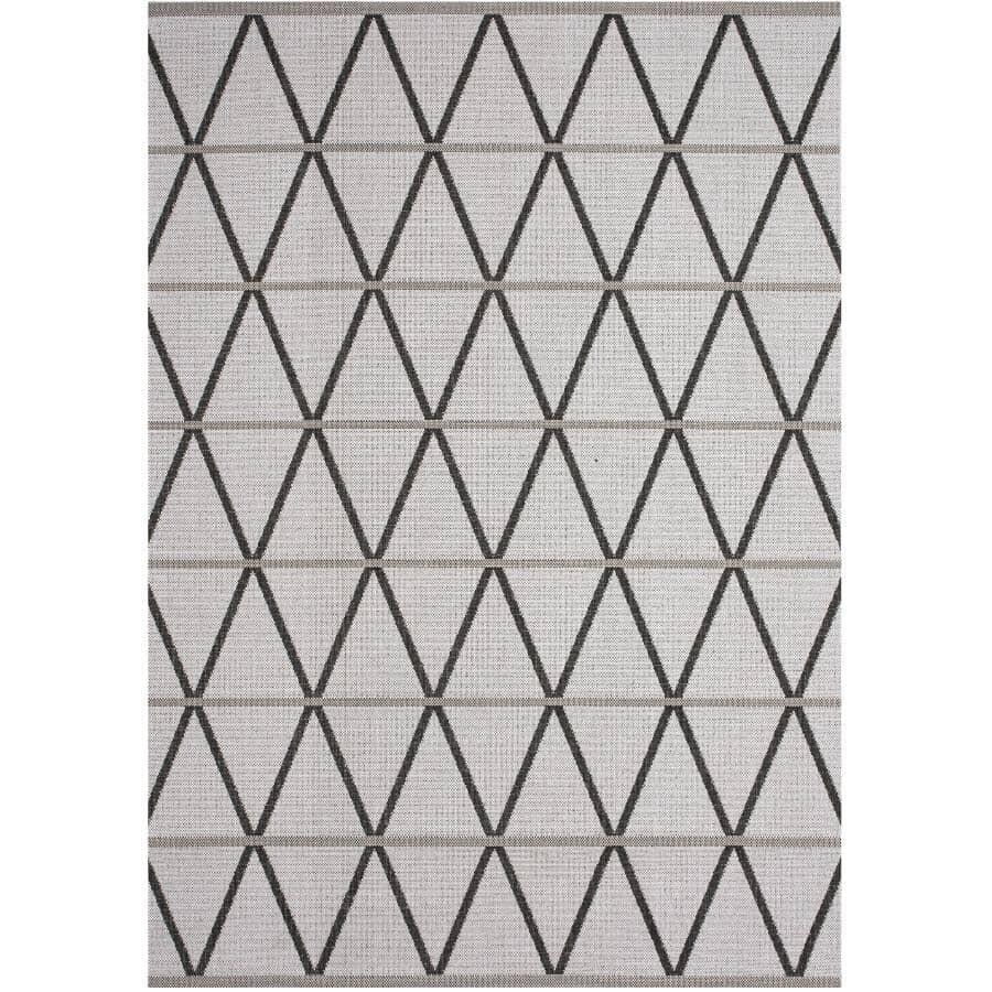 KALORA INTERIORS:6' x 8' Jasper Area Rug - Light Grey + Dark Grey Woven Pattern