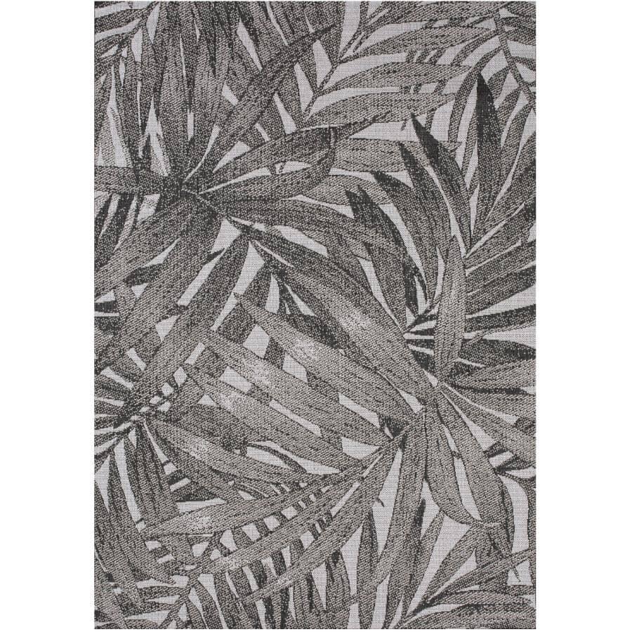 KALORA INTERIORS:6' x 8' Jasper Area Rug - Light Grey + Dark Grey Palm Design