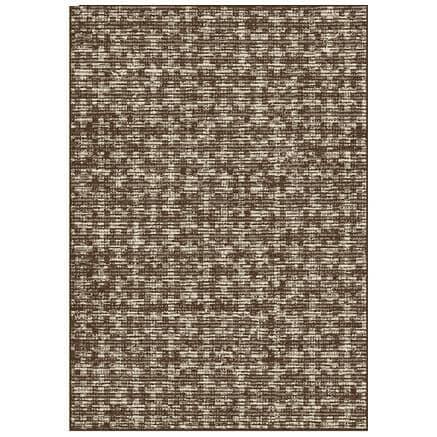 KALORA INTERIORS:6' x 8' Jasper Area Rug - Brown + Beige Woven Pattern