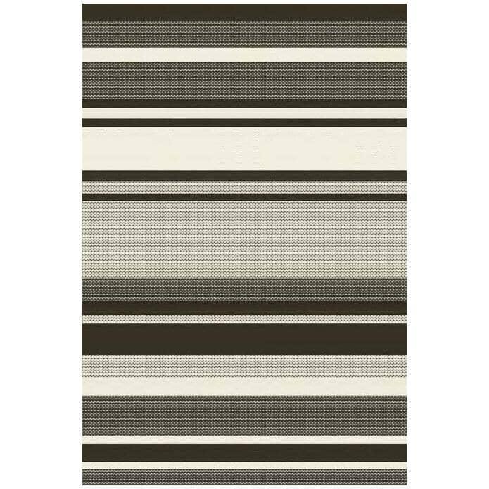 KALORA INTERIORS:6' x 8' Jasper Area Rug - Brown + Cream Stripes