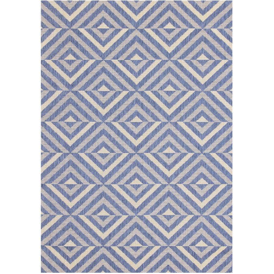 KALORA INTERIORS:6' x 8' Canopy Area Rug - Blue + Grey Pattern