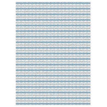 KALORA INTERIORS:6' x 8' Canopy Area Rug - Blue + Grey Stripe Pattern