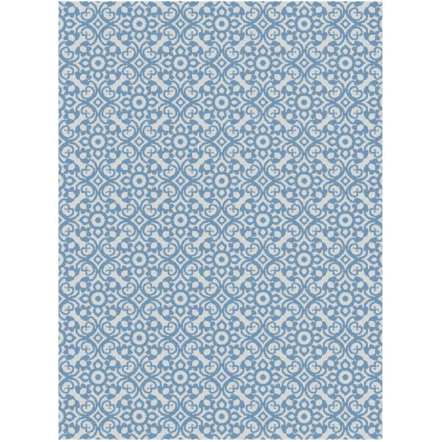 KALORA INTERIORS:6' x 8' Canopy Area Rug - Blue + White Design