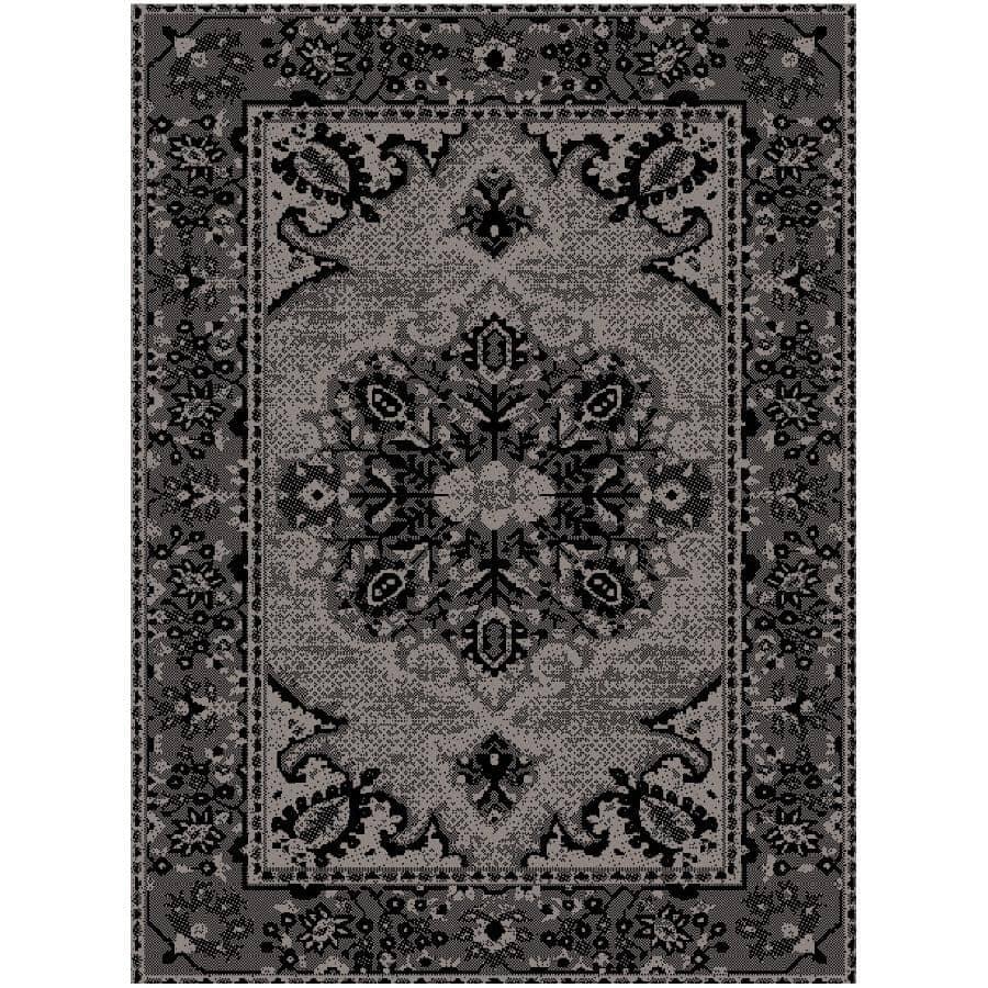 KALORA INTERIORS:6' x 8' Canopy Area Rug - Light Grey to Dark Grey Design