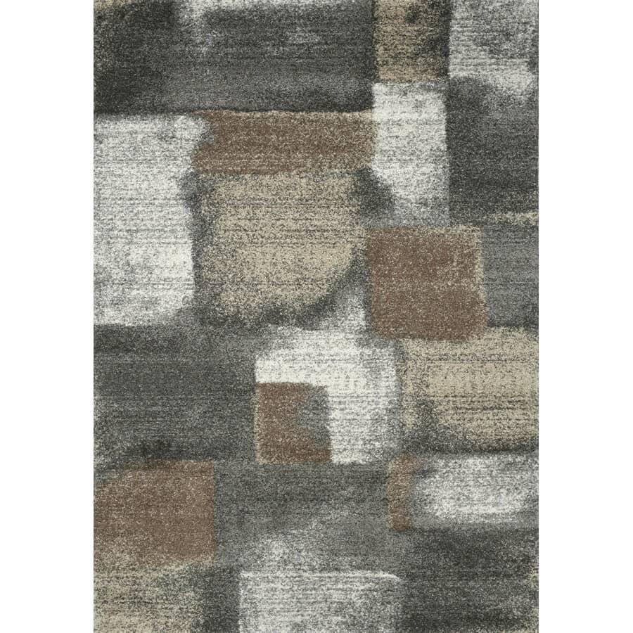 KALORA INTERIORS:8' x 11' Breeze Grey/Brown Blocks Area Rug